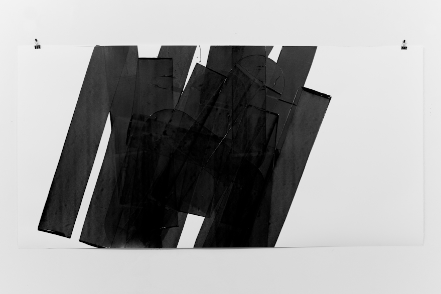Pippo Lionni, UNTITLED 556, 2014, acrylic on 300g paper, 70x140cm