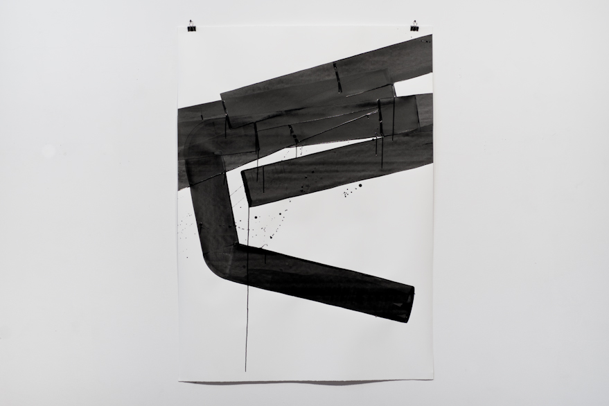 Pippo Lionni, UNTITLED 587, 2014,acrylic on 300g paper, 140x100cm