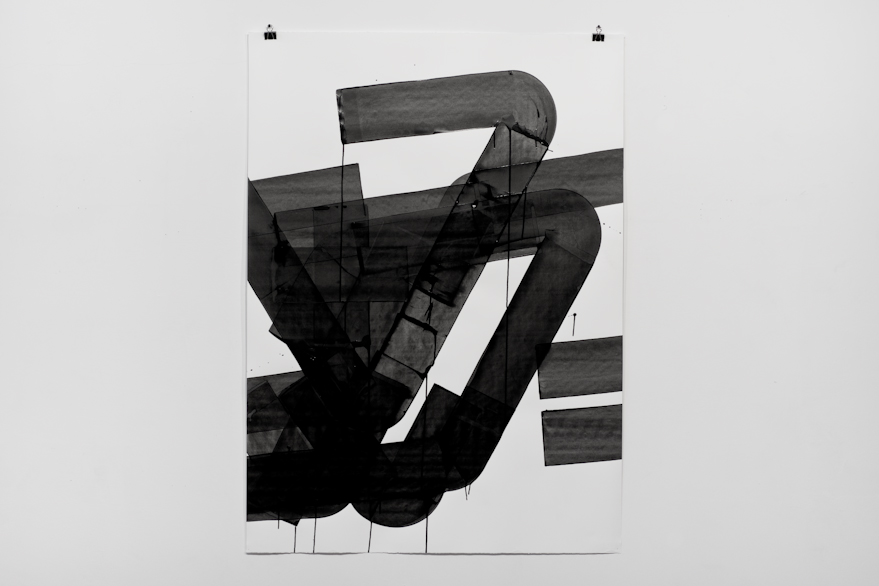 Pippo Lionni, UNTITLED 589, 2014,acrylic on 300g paper, 140x100cm