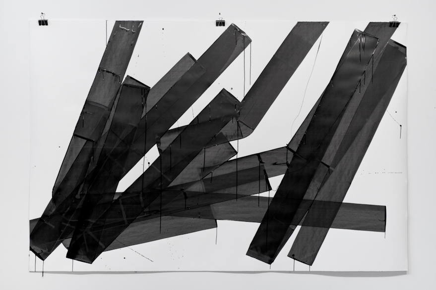 Pippo Lionni, UNTITLED 595, 2014,acrylic on 300g paper, 140x210cm