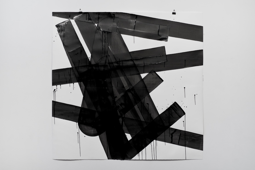 Pippo Lionni, UNTITLED 596, 2014,acrylic on 300g paper, 140x160cm