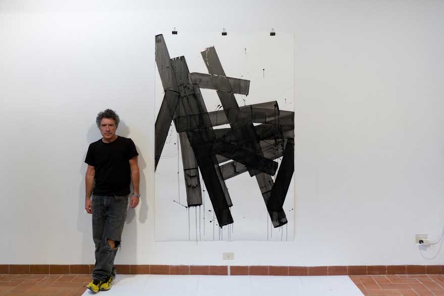 Pippo Lionni, UNTITLED 648, 2014, 43°11°, acrylic on 300g paper, 210x140cm