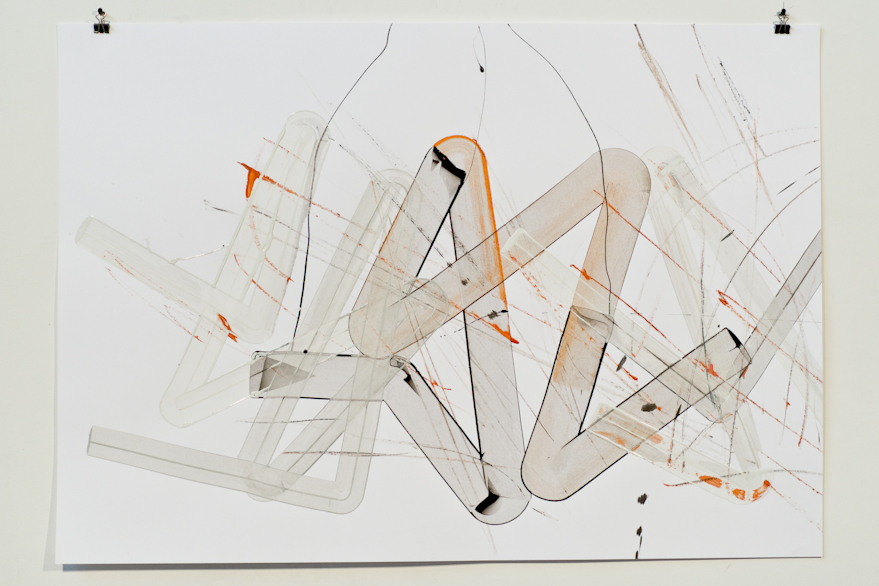 Pippo Lionni, UNTITLED 525, 2014, acrylic on 220g paper, 70x100cm