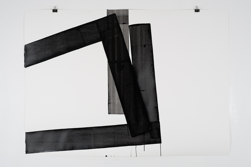 Pippo Lionni, UNTITLED 657, 2014, 48°02°, acrylic on 300g paper, 100x140cm