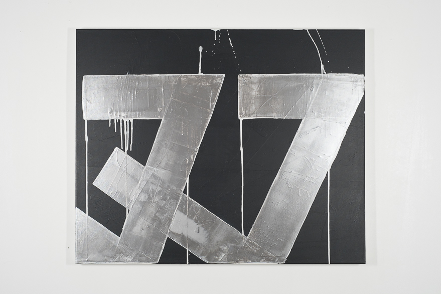 Pippo Lionni, UNTITLED 664, 2014, 48°02°, acrylic on canvas, 80x100cm