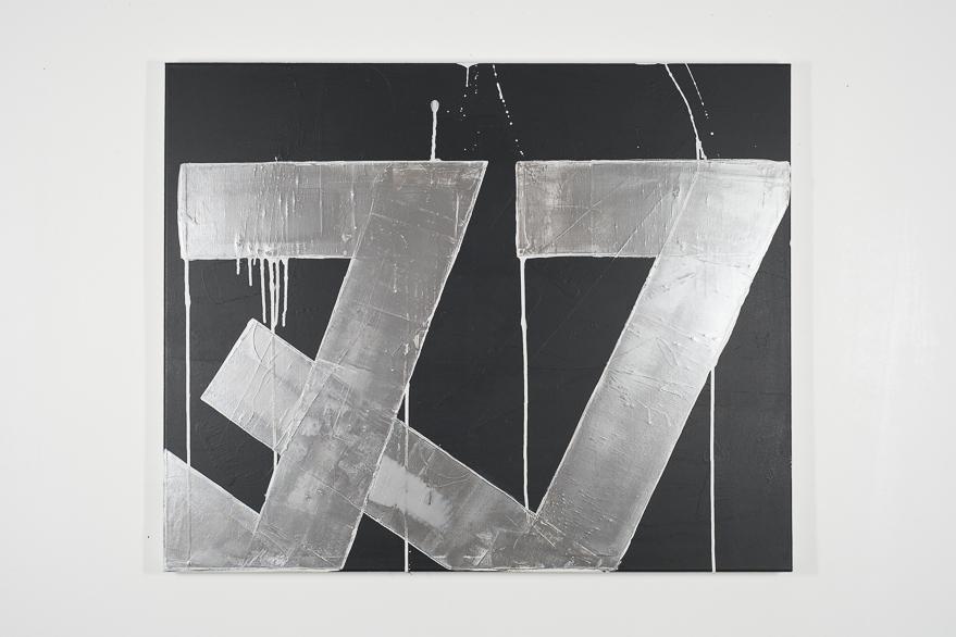 Pippo Lionni, UNTITLED 664, 2014,48°02°, acrylic on canvas, 80x100cm