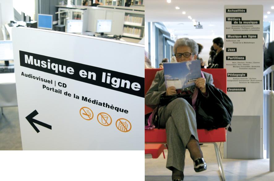 pippo lionni - cite de la musique - signaletique - signage - graphics