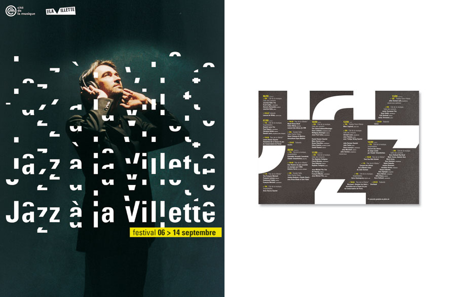 pippo lionni - jazz à la villette - ldesign - edition - publishing - graphics