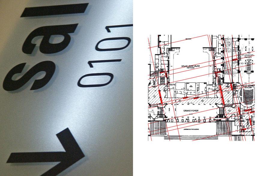 pippo lionni - palais de chaillot - signaletique - signage - identity