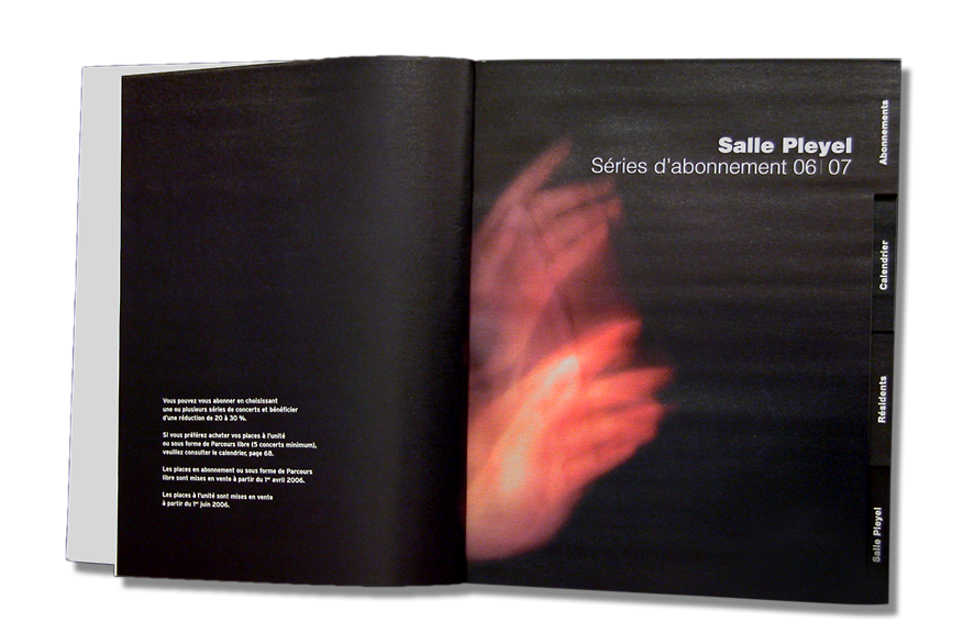 pippo lionni - salle pleyel 06/07- edition - publishing - identity - graphics