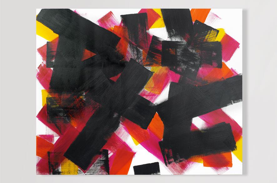 Pippo Lionni EDGESCAPE, 2009, Acrylic on canvas, 130 x 160 cm