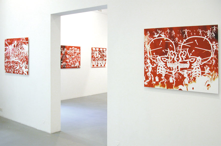 pippo lionni - exhibition - expo - galerie frederic giroux - cosmos of crises