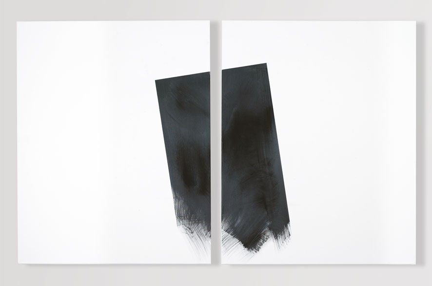Pippo Lionni GRAYMATTERS 4, 2009, Acylic on canvas, diptych, 100x160cm