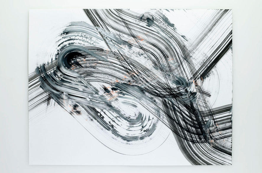 Pippo Lionni LATERALSHIFT 237, 2011, acrylic on 200g paper, 50x65cm