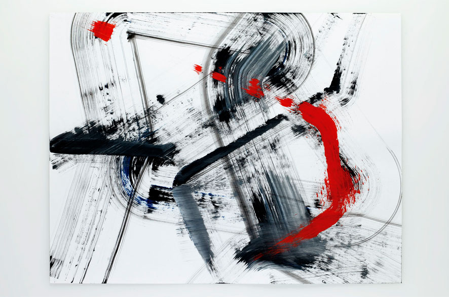 Pippo Lionni LATERALSHIFT 329, 2011, acrylic on 200g paper, 50x65cm