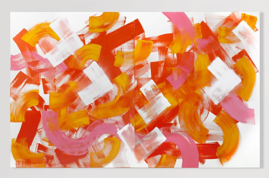 Pippo Lionni YESBYNORTHYES, 2009, Acrylic on canvas, 160 x 260 cm
